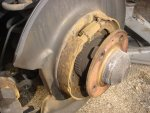 Brakes photo of rear parking brake shoes.jpg